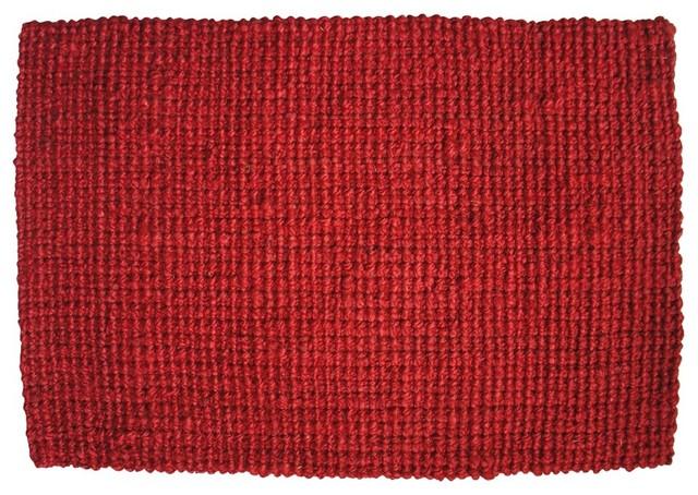 Kerala Jute Rug, Red, 90x60 cm