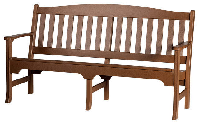 Outstanding Outdoor Poly Lumber Avonlea Garden Bench Sequoia Inzonedesignstudio Interior Chair Design Inzonedesignstudiocom