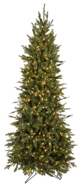 Forever Tree 12' Slim Canadian Balsam Fir Power Pole with Remote