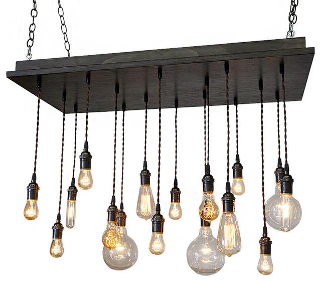 rustic industrial dining room chandelier - industrial