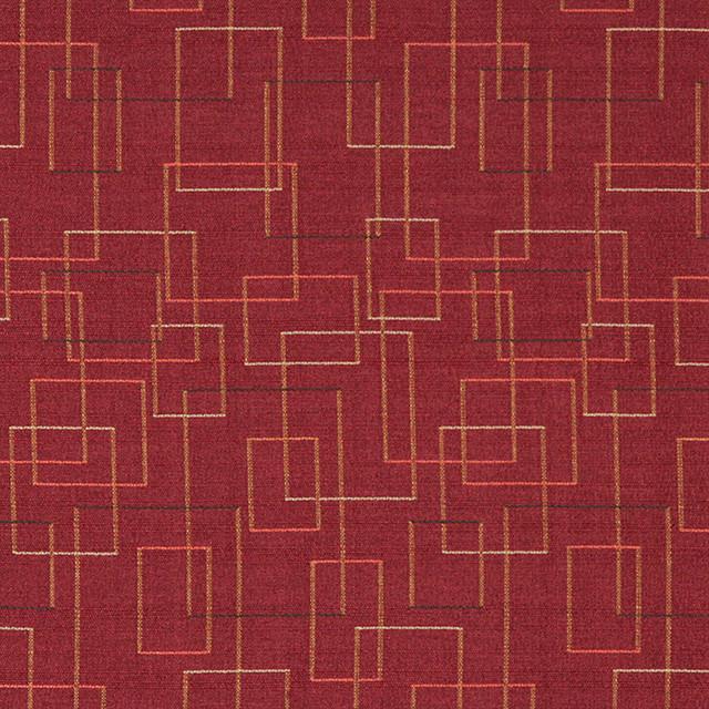 Palazzo Fabrics Burgundy Salmon Green Geometric Squares