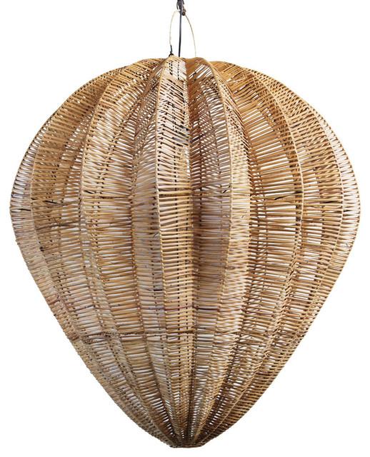 Honey Rattan Starfruit Lantern, Large.