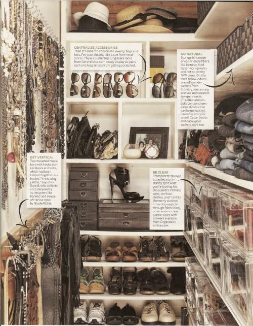 Kara DioGuardi contemporary closet