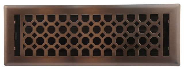 Light Oil-Rubbed Bronze Charlotte Floor Register, 4x14.
