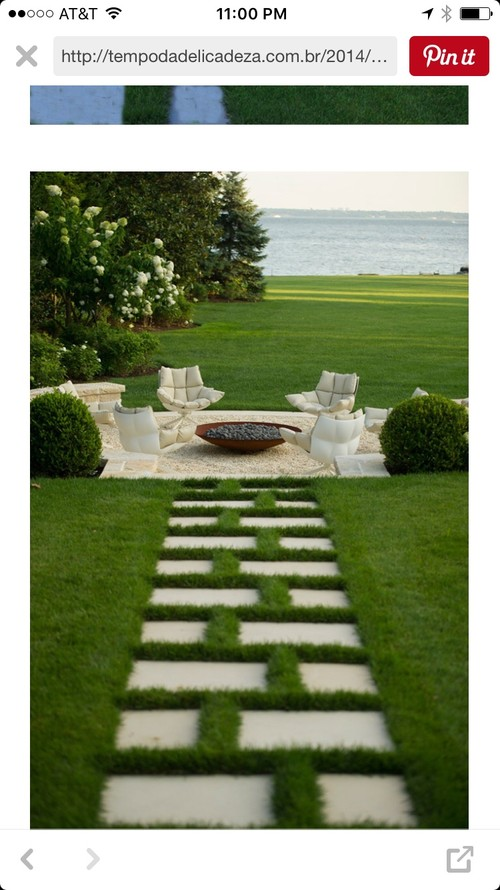 Has Anyone Put Pavers In Grass Like This