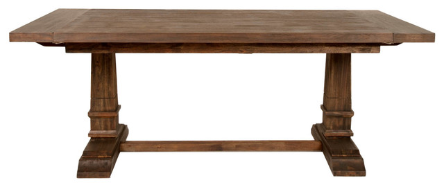 Davis Extension Dining Table, Rustic Java.
