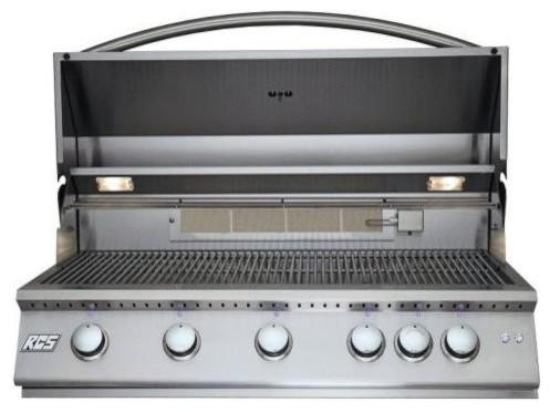 "Rcs Gas Grills 40"" Premier Grill With Blue Led And Rear Burner, Liquid Propane."