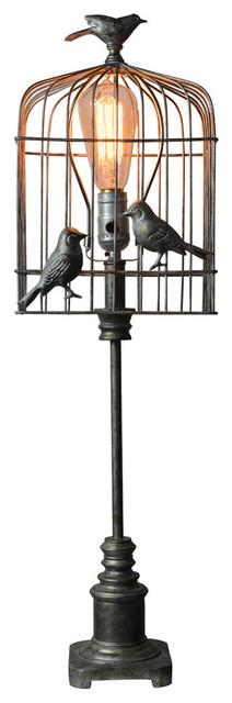 Aviary Accent Bird Lamp - Eclectic - Table Lamps - by West ...