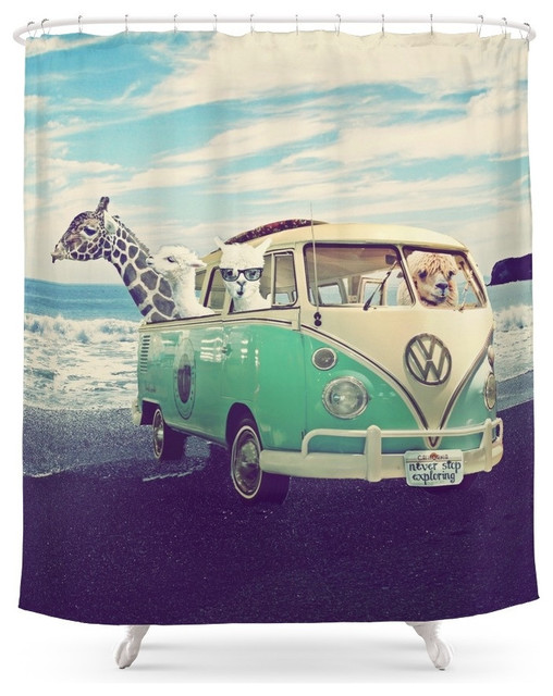 Society6 Never Stop Exploring The Beach Shower Curtain Beach Style Shower  Curtains
