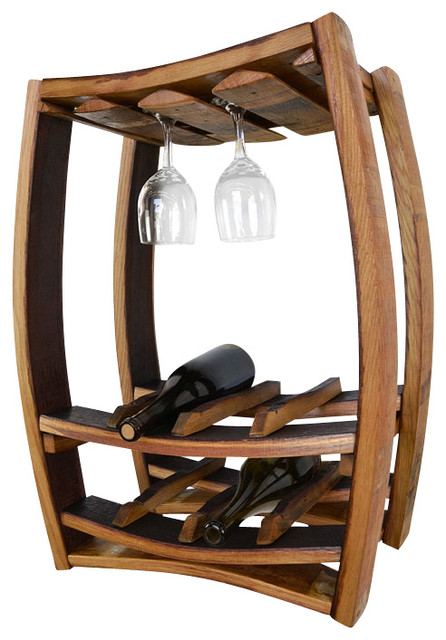 wine barrel rack canada hanging glass holders rustic furniture australia