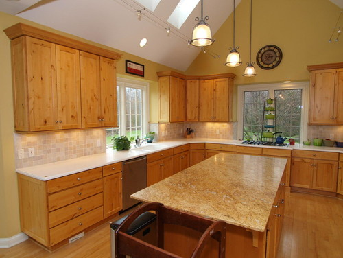 Paint Color In Kitchen With Hickory Cabinets