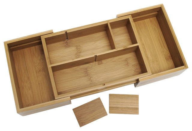 Bamboo Expandable Bathroom Organizer.