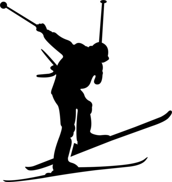 Airborne Skiing Stencil - Contemporary - Wall Stencils - by ...