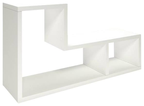 tvilum flexo 2 shelf bookcase white contemporary. Black Bedroom Furniture Sets. Home Design Ideas