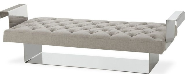 Resource Decor Vinci Bench, Beige Linen.