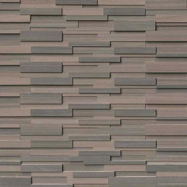 6x24 Brown Wave 3D Honed Panel - Transitional - Wall And Floor ...