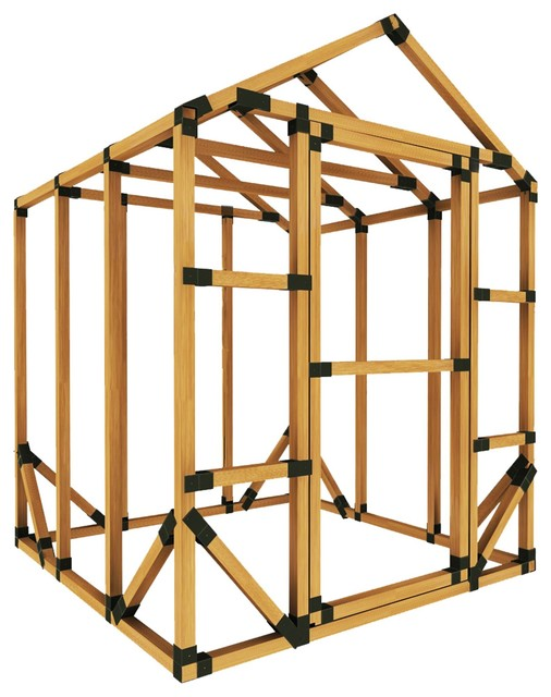 6x6 Standard Storage Shed Kit, With Floor Framing