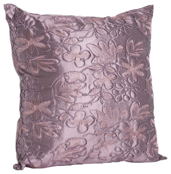 Cord Embroidery Design Throw Pillow Contemporary Decorative Fascinating Eggplant Decorative Pillows