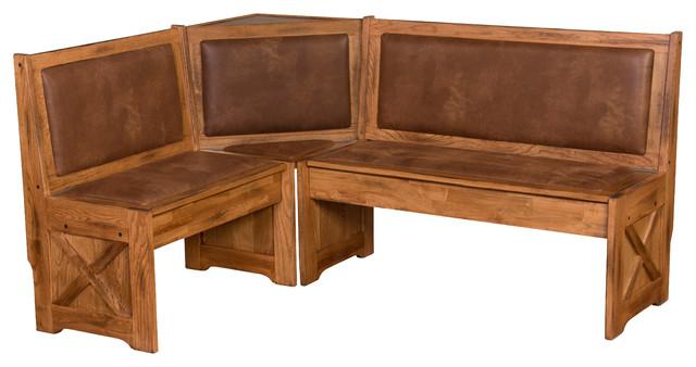 Breakfast Nook Set With Side Bench, Sedona