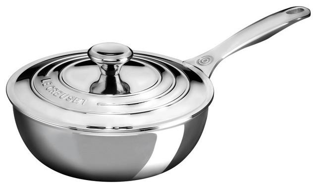Le Creuset 3.5 Qt. Saucier Pan With Lid & Helper Handle.