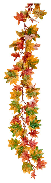 "71"" Maple Leaf Garland Soft Fall."