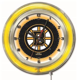 Boston Bruins Double Neon Ring 15 Quot Logo Clock