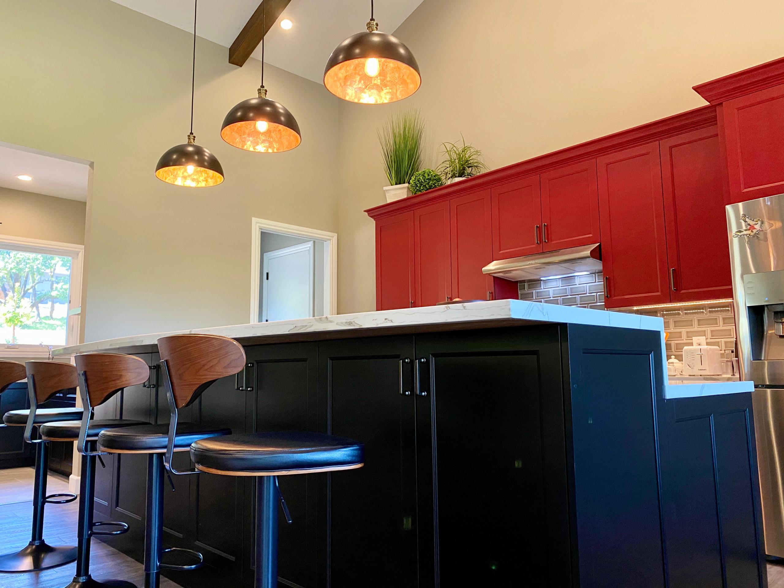 Bold Red Kitchen