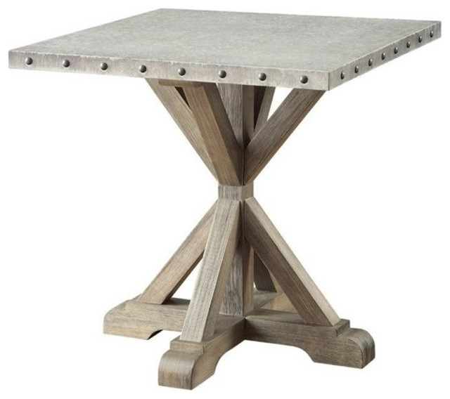 Bowery Hill Rustic End Table, Driftwood.