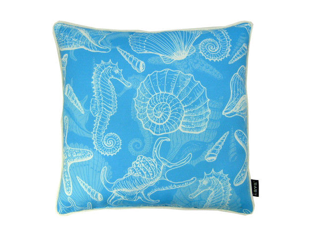 Beach Style Outdoor Cushions : Ocean Blue 18X18 Pillow Indoor / Outdoor - Beach Style - Outdoor Cushions And Pillows - by Zeckos