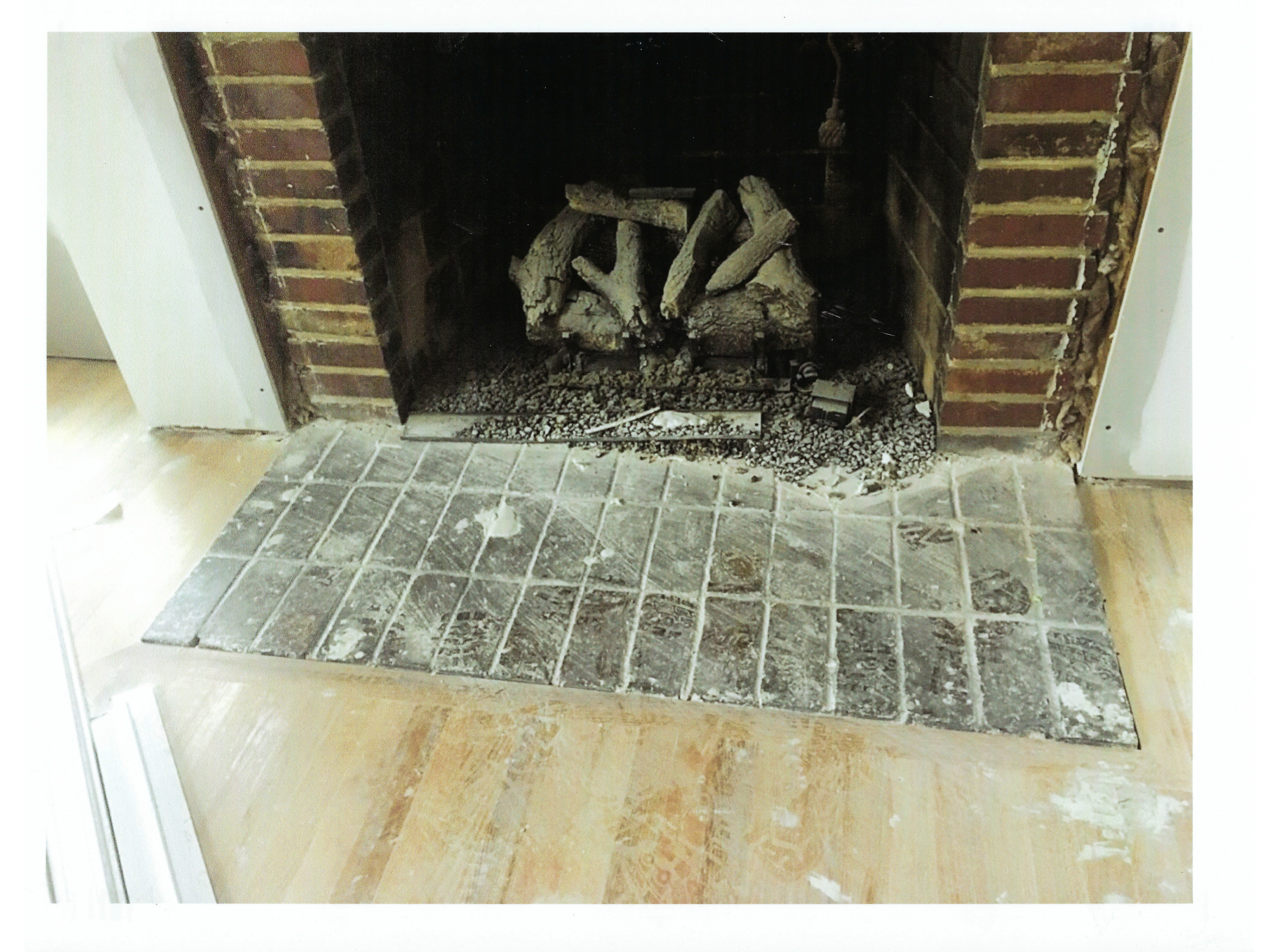 Meyers Drive 1960's Fireplace Before