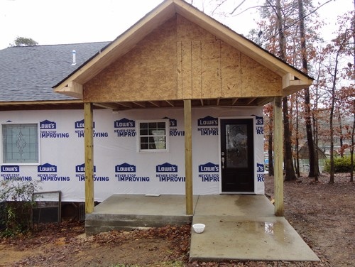 Need help with ugly concrete porch for Cypress porch columns
