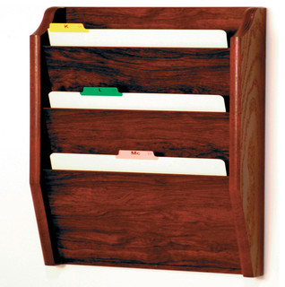 Wooden Mallet 3 Pocket Legal Size File Holder, Light Oak - Filing Cabinets | Houzz
