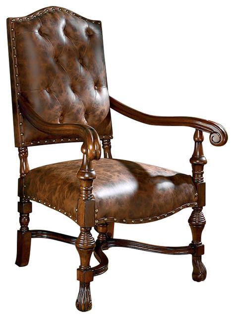 Villandry Spanish Revival Arm Chair Traditional