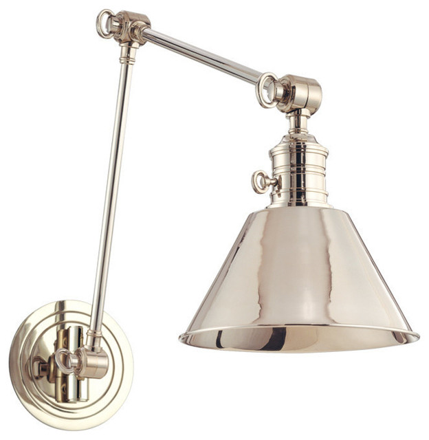 Garden City, One Light Wall Sconce With Adjustable Arm