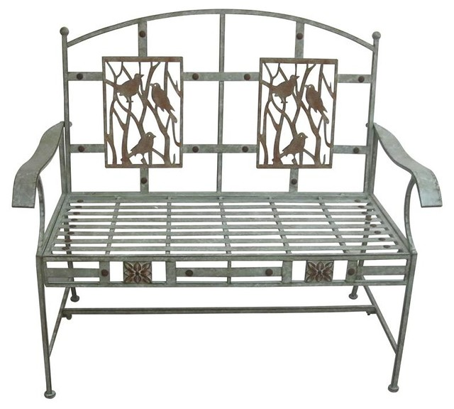 blooma coburg black metal garden swing bench with cushions outdoor benches for sale birds on branches industrial furniture