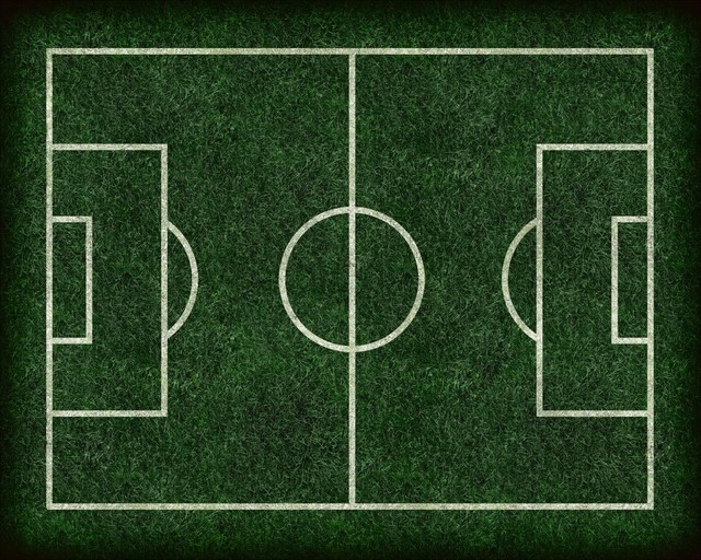 Football / Soccer Field Wall Mural   18 Inches W X 14 Inches H Contemporary  Part 6