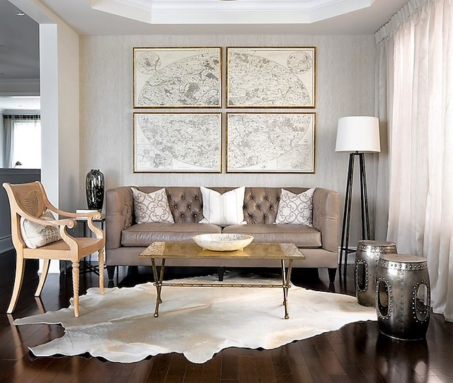 Brazilian Champagne Cowhide Rugs Large