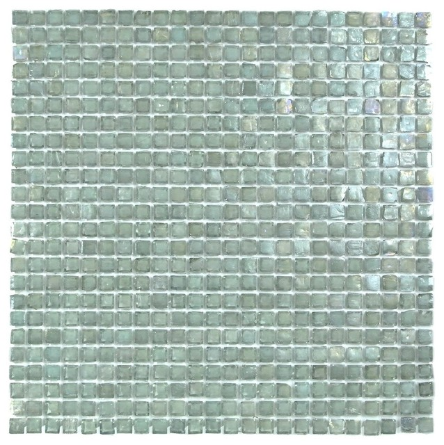 Blue Green Recycled Gl Mosaic Tile Sample