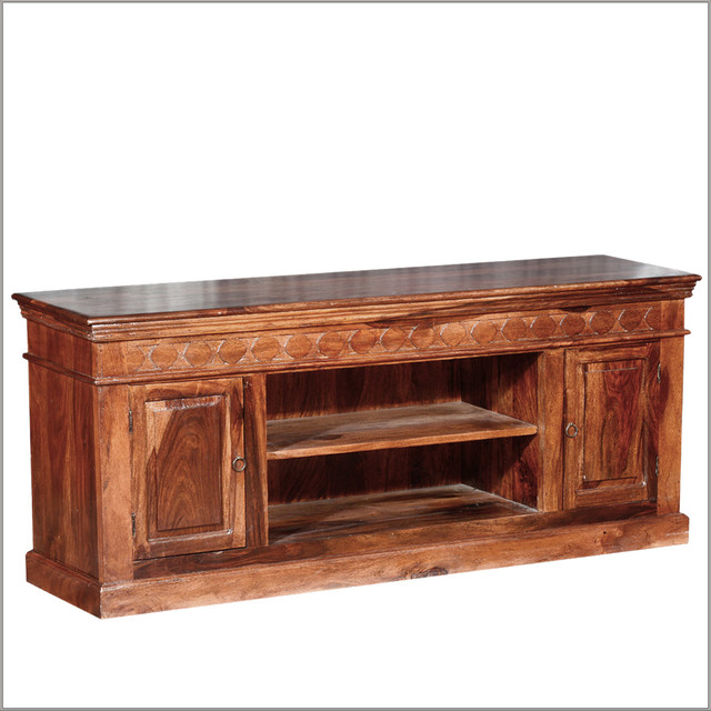 country cabin rustic indian rosewood tv stand media console rustic entertainment centers and - Painted Tv Consoles