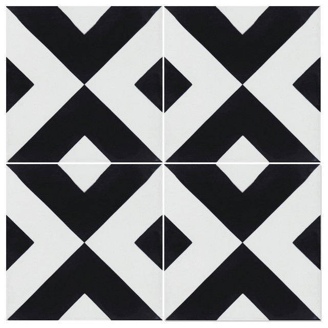 """7.9""""x7.9"""" Charge Cement Tiles, Set Of 12."""