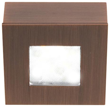 WAC Lighting LED Button Light, Copper Bronze, Square, 3000k Soft White
