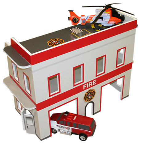Toy Fire Station Contemporary Kids Toys And Games By