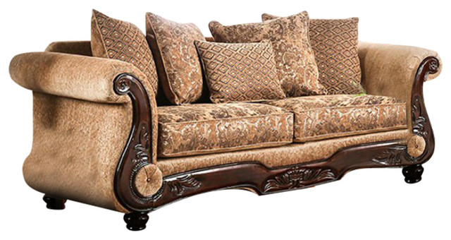 Brilliant Grotesque Luxurious Sofa Gold And Brown Squirreltailoven Fun Painted Chair Ideas Images Squirreltailovenorg