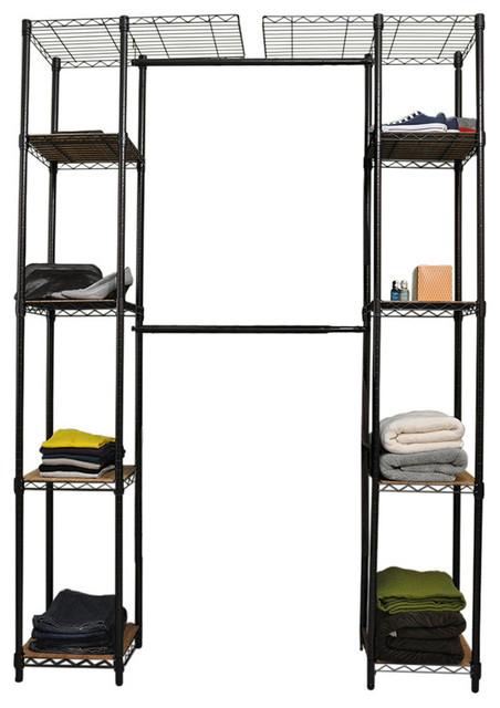 Trinity Expandable Closet Organizer, Dark Bronze Contemporary Closet  Organizers