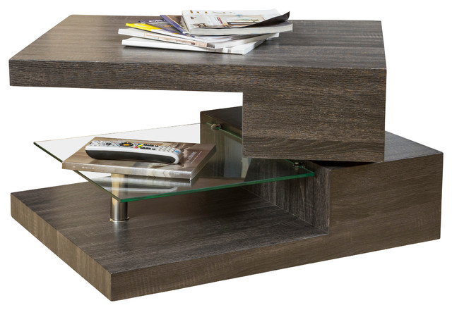 Captivating Bushwick Rectangular Rotating Wood Coffee Table Contemporary Coffee Tables