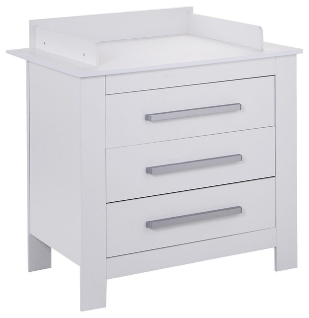 ac1650f4a443 Durable White Baby Changing Table Dresser with 3 Drawers - Contemporary - Changing  Tables - by Imtinanz, LLC