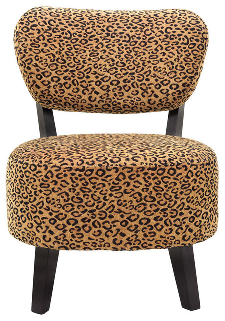 Leopard Print Accent Chair Contemporary Armchairs And