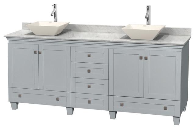 80 double bathroom vanity gray contemporary bathroom - Contemporary bathroom vanities without tops ...