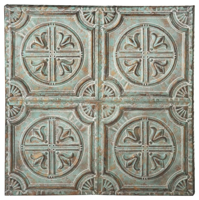 Distressed Medallion Wall Decor Sage And Gold Farmhouse
