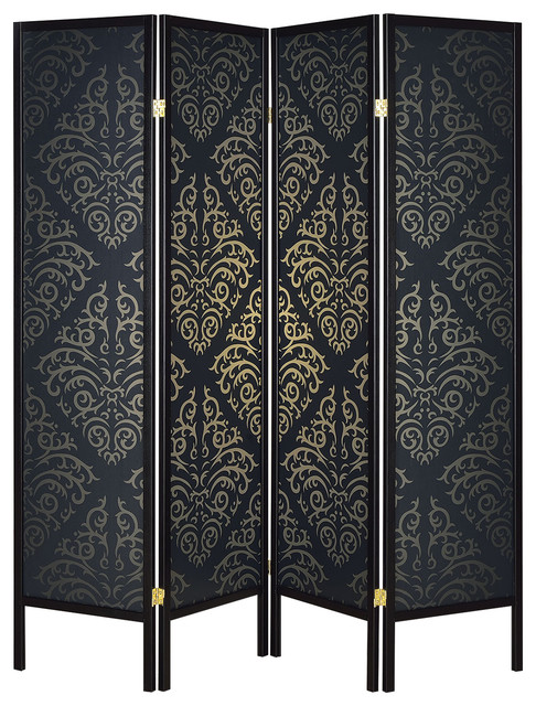 Coaster Folding Screen Black Contemporary Screens And Room Dividers